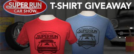 SUPER RUN T-SHIRT GIVEAWAY